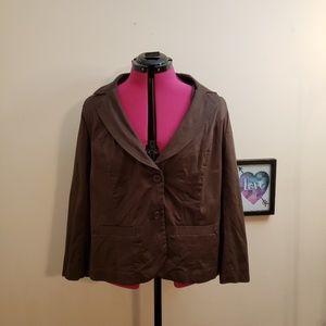 Lane Bryant Dark Brown Blazer Jacket